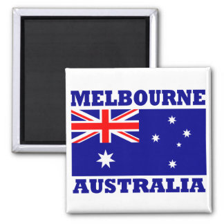Flagge Melbournes Australien Quadratischer Magnet