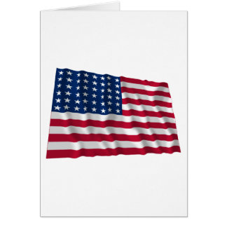 Flagge mit 48 Sternen Karte