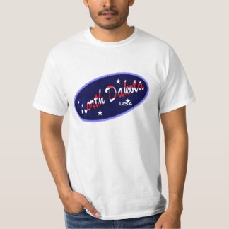 Flagge North Dakota USA färbt T - Shirt