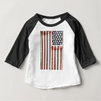 Flagge-patriotisches Gitarren-Musikthema Baby T-shirt