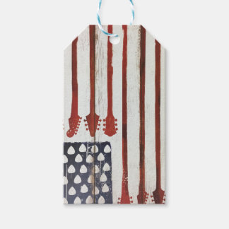 Flagge-patriotisches Gitarren-Musikthema Geschenkanhänger