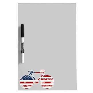 Flagge patriotisches USAradfahren Trockenlöschtafel