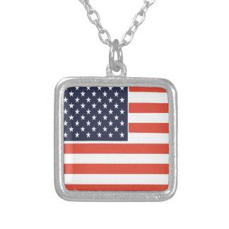 Flagge-quadratische hängende Halskette