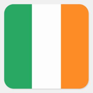 Flagge quadratischen Aufklebers Irlands Quadratischer Aufkleber