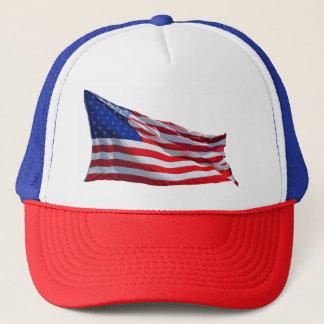 Flagge-rote weiße und blaue Baseballmütze Truckerkappe