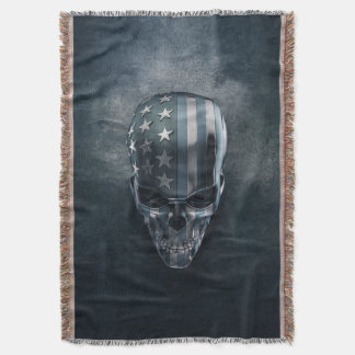 Flagge-Schädel-Wurfs-Decke Decke
