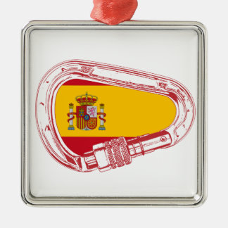 Flagge Spaniens Carabiner Silbernes Ornament