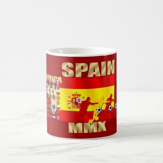Flagge Spaniens großes Fußball Afrikas MMX futbol Tasse