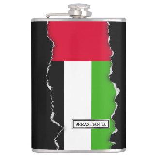 Flagge UAE Arabische Emirate Flachmann