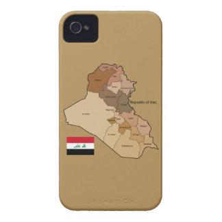 Flagge und Karte vom Irak iPhone 4 Case-Mate Hülle