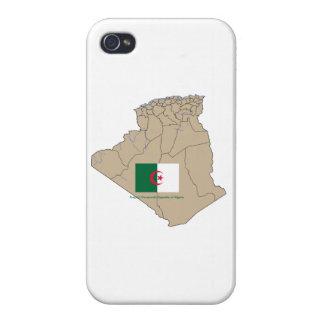 Flagge und Karte von Algerien Schutzhülle Fürs iPhone 4