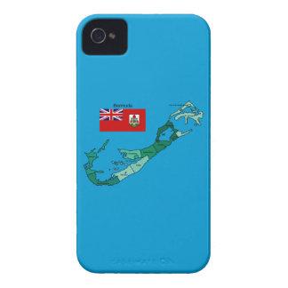 Flagge und Karte von Bermuda iPhone 4 Case-Mate Hülle