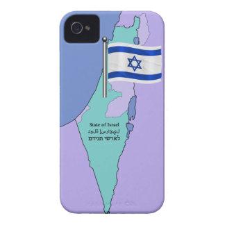 Flagge und Karte von Israel iPhone 4 Hülle