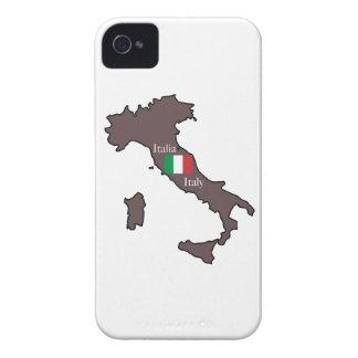 Flagge und Karte von Italien iPhone 4 Case-Mate Hülle