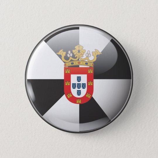 Flagge und Schild von Ceuta Runder Button 5,7 Cm