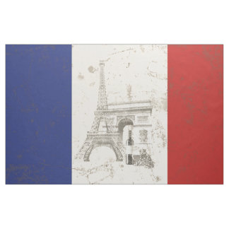Flagge und Symbole von Frankreich ID156 Stoff