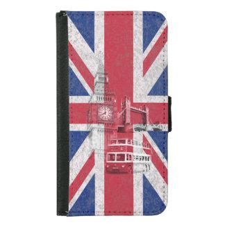 Flagge und Symbole von Großbritannien ID154 Geldbeutel Hülle Für Das Samsung Galaxy S5