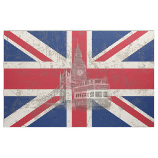 Flagge und Symbole von Großbritannien ID154 Stoff