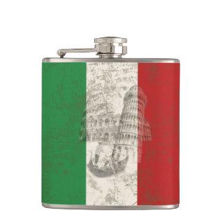 Flagge und Symbole von Italien ID157 Flachmann