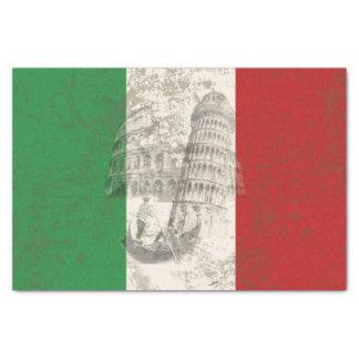 Flagge und Symbole von Italien ID157 Seidenpapier