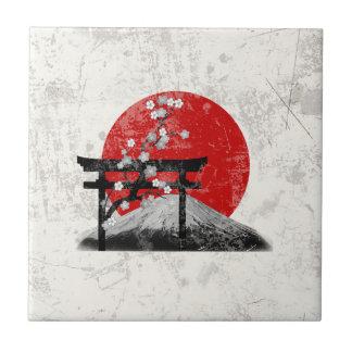 Flagge und Symbole von Japan ID153 Fliese