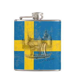 Flagge und Symbole von Schweden ID159 Flachmann