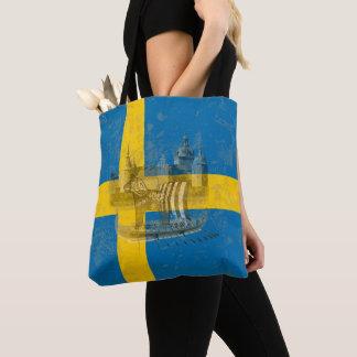 Flagge und Symbole von Schweden ID159 Tasche