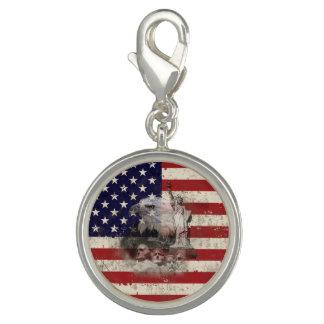 Flagge und Symbole von Vereinigten Staaten ID155 Foto Anhänger