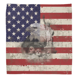 Flagge und Symbole von Vereinigten Staaten ID155 Halstuch