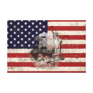 Flagge und Symbole von Vereinigten Staaten ID155 Leinwanddruck