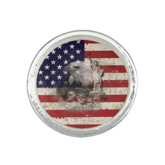 Flagge und Symbole von Vereinigten Staaten ID155 Ringe