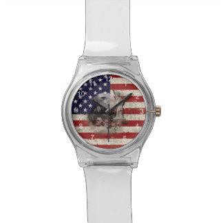 Flagge und Symbole von Vereinigten Staaten ID155 Uhr