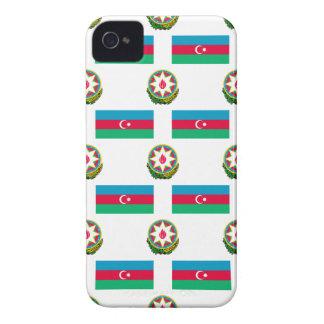Flagge und Wappen von Azerbaijan iPhone 4 Hülle