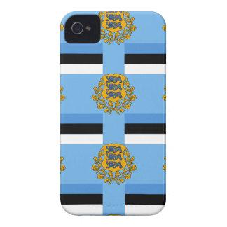 Flagge und Wappen von Estland iPhone 4 Cover