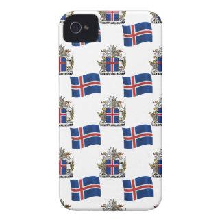Flagge und Wappen von Island iPhone 4 Cover