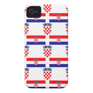 Flagge und Wappen von Kroatien iPhone 4 Case-Mate Hülle