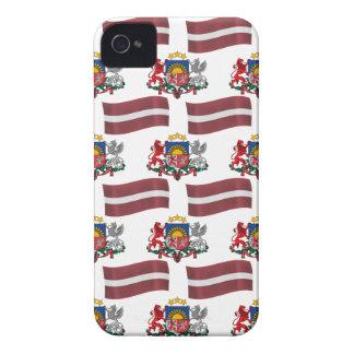 Flagge und Wappen von Lettland Case-Mate iPhone 4 Hülle