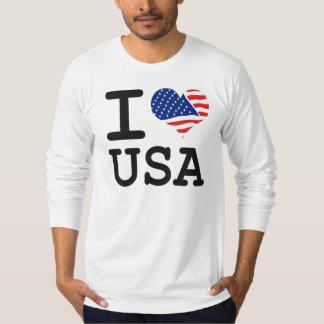 Flagge USA der Liebe I Hemden