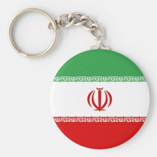 Flagge vom Iran Standard Runder Schlüsselanhänger
