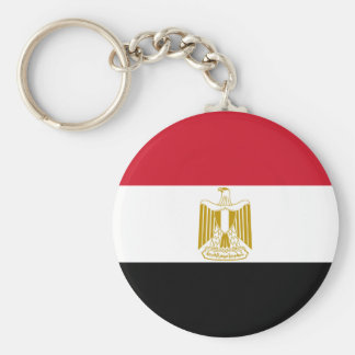 Flagge von Ägypten - علممصر - ägyptische Flagge Standard Runder Schlüsselanhänger