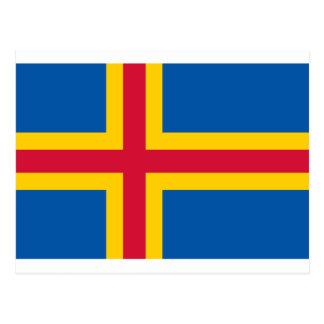 Flagge von Åland Postkarte