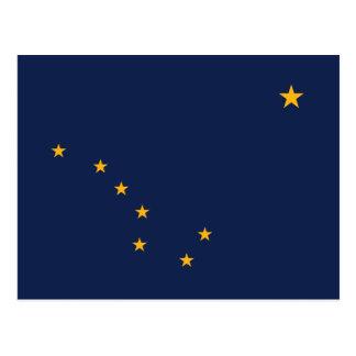 Flagge von Alaska Postkarte