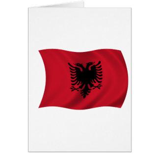Flagge von Albanien Karte