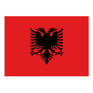 Flagge von Albanien Postkarte