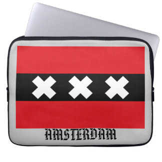 Flagge von Amsterdam Laptopschutzhülle