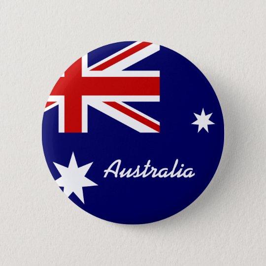 Flagge von Australien Runder Button 5,7 Cm