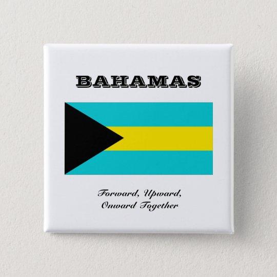 Flagge von Bahamas Quadratischer Button 5,1 Cm