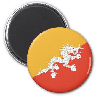 Flagge von Bhutan Runder Magnet 5,7 Cm