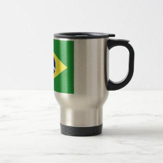 Flagge von Brasilien Reisebecher
