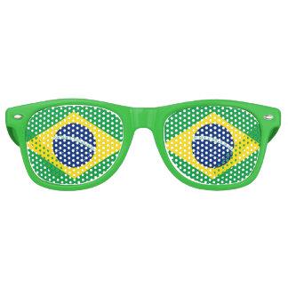 Flagge von Brasilien Retro Sonnenbrillen